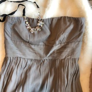 J. Crew Strapless dress 100% silk.